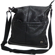 Genuine Leather Black SAK Crossbody Purse.  AS NEW Condition.