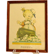 MABEL LUCIE ATTWELL  Very Old Print.  Absolutely Charming.  VG Condition.