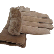 Men's Genuine Sheepskin Gloves.  Size L. Made in England.  Luxurious Quality.  As New Condit