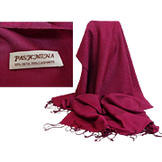 Shades of Burgundy Pashmina.  70% Cashmere and 30% Silk.   Super Gorgeous.  As New Condition.