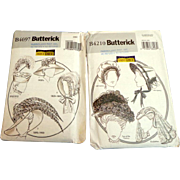 BUTTERICK B4210 and B4697. Patterns for period hats and bonnet.  Uncut.  Unused.  Mint ...
