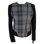 BIANCA NYGARD Jacket.  Black Plaid.  Quality ++.  As New with Tag.