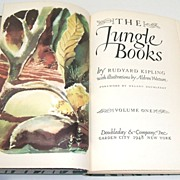 THE JUNGLE BOOKS. Kipling.  Aldren Watson illustrations!  Vol 1. 1948.  Near Fine condition.
