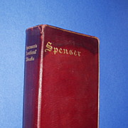 POETICAL WORKS OF SPENSER.  Genuine Leather with Gilt Tooling. Gorgeous!