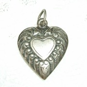 SALE Puffy Heart with Heart.  For Valentine's Day!  Perfect condition.