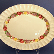 SALE Large Spode Copeland English Platter.  Rose Briar Pattern.  Perfect Condition!