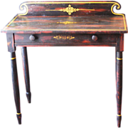 Rosewood-Grain-Painted Sheraton Dressing Table C. 1820-1840