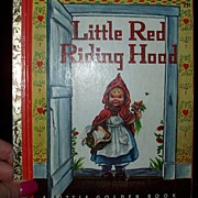 Golden Book Little Red Riding Hood 1948 Edition Hardcover Free Shipping