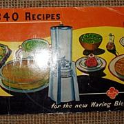`947 Advertising Cookbook Pamphlet 340 Recipes Waring Blender Free Shipping