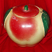 Hull Cookie Jar Apple Full Size Ca 1950s Vintage