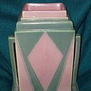 Art Deco Roseville Futura Jukebox Vase Ca 1920s