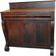 SALE American Empire Mahogany Server or Sideboard