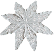 SOLD Big Star Shape Hand Crocheted Centerpiece Doily 33 Inches Wide