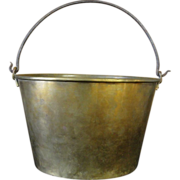 Antique 19th Century Brass Pail with Handle