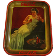 1936 Vintage Coca Cola Serving Tray Hostess Girl