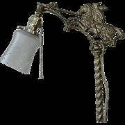 Vintage Cast Iron Floor Bridge Lamp Horse Knight Jousting