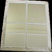 Vintage Architectural Salvage Barn Window Mirror