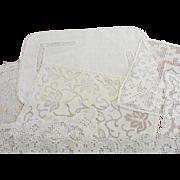 Seven Vintage Rectangular Lace Doilies