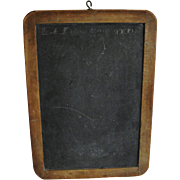 Old Primitive Wood Frame Slate Chalk Board with Dates Initials