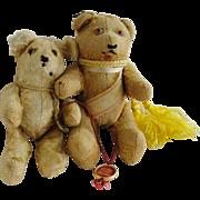 Miniature Vintage Much Loved Mohair Teddy Bears
