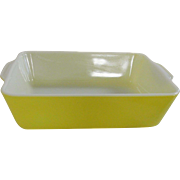 Vintage Pyrex Primary Yellow 503 1 ½ Quart Refrigerator Dish No Lid