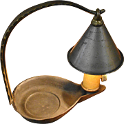 Small Vintage Storybook Lamp Light with Cone Shaped Shade
