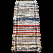 Vintage Farmhouse Rustic Handmade Rag Rug 60 x 24
