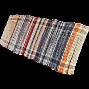 Vintage Hand Woven Farm House Rag Rug 59 x 24