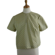 1950's Womens celery green  cropped blouse