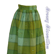 1950's Green window pane women's skirt