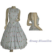 Vintage 1950's Halter Party Sundress ~ Cole of California