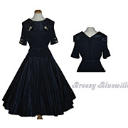 1950's Vintage Navy Sailor Swing Rockabilly Dress