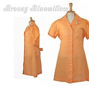 1960's Vintage Orange Child's Shift Dress