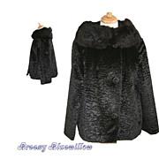 Vintage Black Fur Coat ~ Union Made