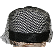 Vintage Bubble Dome Mod Checked Hat