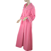 "1950's NOS Quilted Pink ""New Look"" Robe Housecoat"