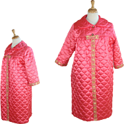 1960's Quilted Pink Housecoat Robe