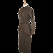 1940's WWII Gabardine Beaded 2-piece Woman's Suit