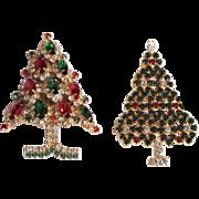 Pretty Eisenberg Ice Christmas Tree Pins (2)