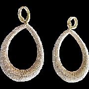 Gorgeous Swarovski Crystal Rhinestone Hoop Earrings