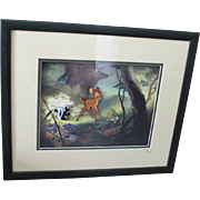 SALE PENDING c. 2002 Bambi Thumper Flower Ltd. Ed. 60th Anniversary Commemorative Framed Pin S