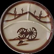 "Vintage Tepco Restaurant Ware 13"" Grill Plate Broken Wagon Wheel Pattern"