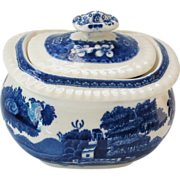 Vintage Copeland Small Lidded Sugar Bowl or Miniature - Spode's Tower