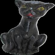 Vintage Cast Iron Black Krazy Kat Crazy Cat Doorstop
