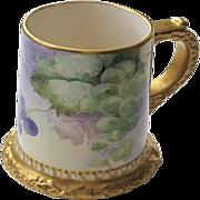 Ceramic Art Co. / American Belleek Handptd. Grape Motif Mug