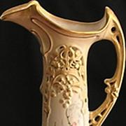Gorgeous Turn Teplitz Art Nouveau Large Ewer / Vase