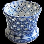 Royal Copenhagen Blue Fluted Full Lace Vase / Cigarette Holder