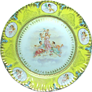 SALE Austrian Large Cabinet Plate of THREE GRACES with CHERUBS c.1900