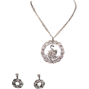 SOLD Sarah Coventry - Swan Lake Rhinestone Pendant