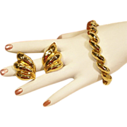 Great Looking High Polished Park Lane Bracelet Set